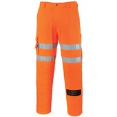 Portwest High Visibility Poly-Cotton Combat Trousers GO/RT Orange