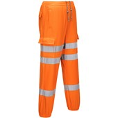 Portwest High Visibility Poly-Cotton Track Trousers GO/RT Orange
