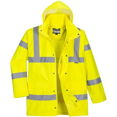 Portwest High Visibility Premium Breathable Mesh Lined Jacket Yellow