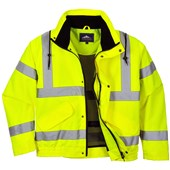 Portwest RT62 Yellow Hi Vis Breathable Mesh Lined Bomber Jacket