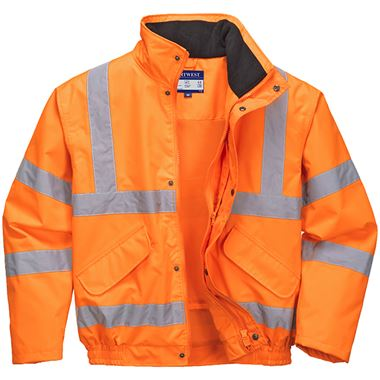 Portwest RT62 Orange Hi Vis Breathable Mesh Lined Bomber Jacket