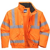 Portwest High Visibility Premium Breathable Mesh Lined Bomber GO/RT Orange
