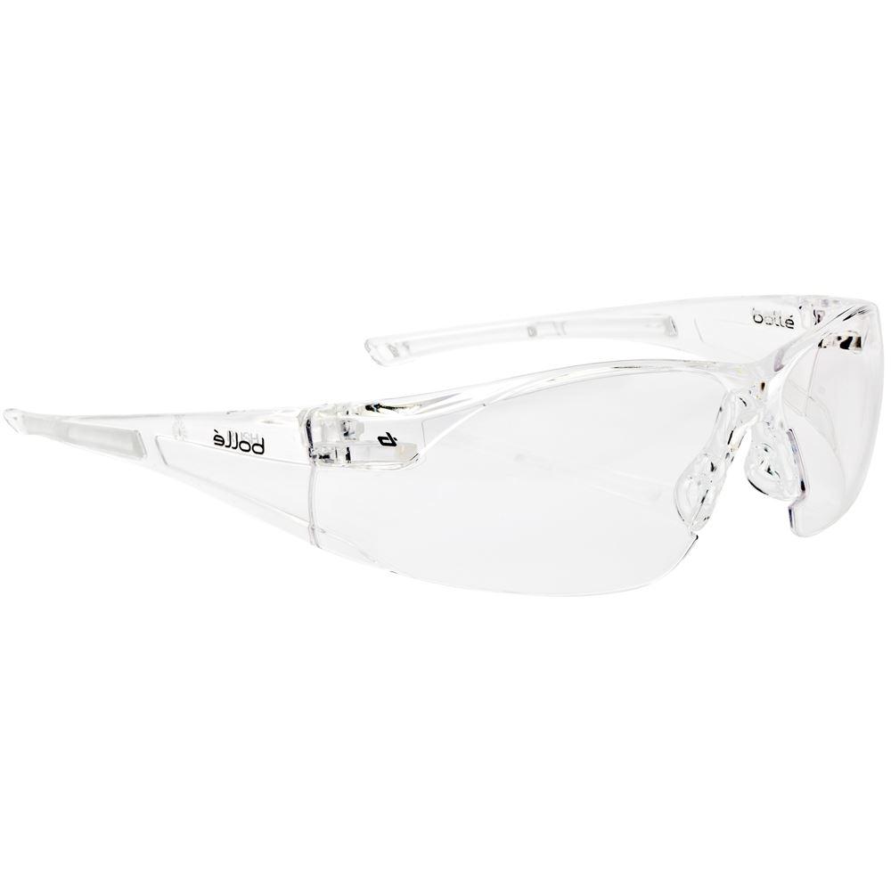Bolle Rush RUSHPPSI Adjustable Bridge Clear Safety Glasss