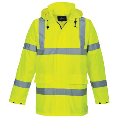 High Visibility Lite Mesh Lined Jacket Yellow