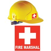 Fire Marshal Helmet Sticker