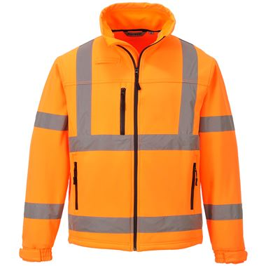 Portwest High Visibility Premium Softshell Jacket GO/RT Orange