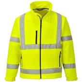 Portwest High Visibility Premium Softshell Jacket Yellow
