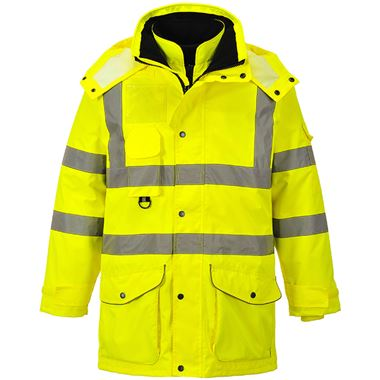 Portwest High Visibility 7-in-1 Breathable Jacket Yellow