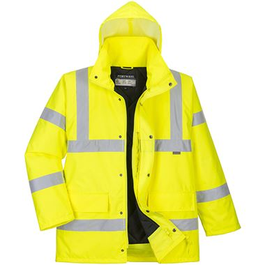 Portwest High Visibility Premium Breathable Padded Jacket Yellow