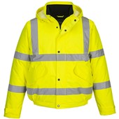 Portwest High Visibility Deluxe Padded Bomber Jacket Yellow