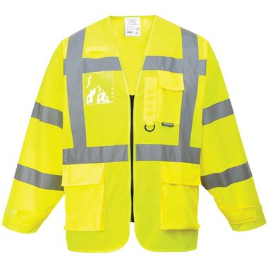 Portwest High Visibility Executive Long Sleeve Vest Yellow