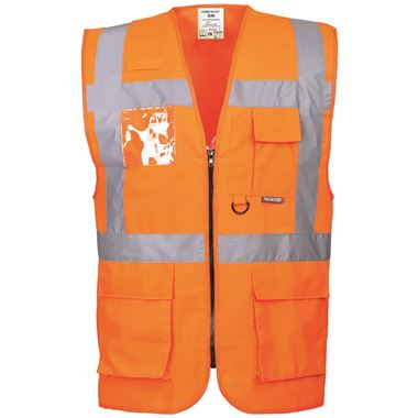Portwest High Visibility Executive Vest GO/RT Orange