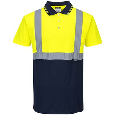 Portwest S479 Two Tone Yellow/Navy Polo Shirt