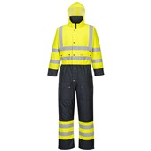 Portwest S485 Contrast Yellow/Navy Hi Vis Quilt Lined Coverall