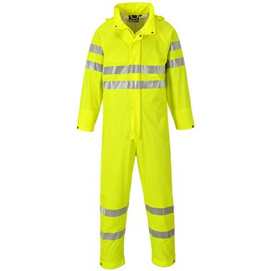 Sealtex Ultra High Visibility Waterproof Breathable Unlined Coverall Yellow