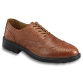 Executive Brown Oiled Leather Brogue Safety Shoe