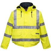 Portwest S773 Bizflame Rain Yellow Hi Vis Flame Retardant Anti-Static Bomber Jacket