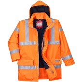 Bizflame High Visibility Flame Retardant Anti-Static Padded Jacket GO/RT Orange