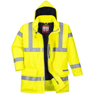 Bizflame High Visibility Flame Retardant Anti-Static Padded Jacket Yellow