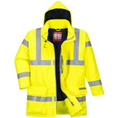 Portwest S778 Bizflame Rain Yellow Hi Vis Flame Retardant Anti-Static Jacket