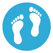 School Social Distance Feet Symbol Floor Markers
