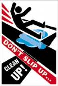 don't slip up clean up
