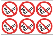 24 No smoking symbol 6/sheet 4 sheets