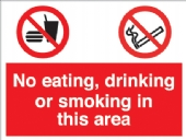 no eating drinking smoking
