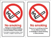 no smoking  doublesided double sided premises