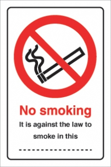 No smoking it is against the law.......