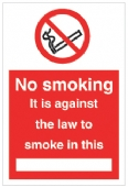 No Smoking against the law in this