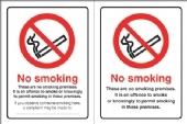 no smoking   doublesided