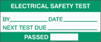electrical safety test - passed (500/roll)