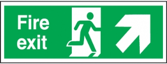 fire exit arrow up right