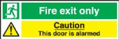 fire exit only - caution this door is alarmed
