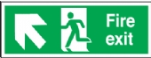 fire exit arrow diagonal up left