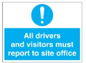 all drivers and visitors must report site office