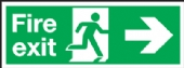 fire exit arrow right