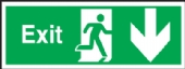exit arrow down