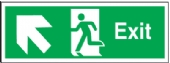 exit arrow diagonal up left
