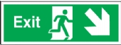 exit arrow diagonal down right