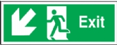 exit arrow diagonal down left