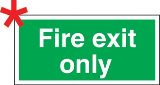 fire exit only