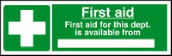 first aid is available from