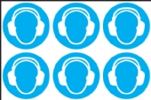 Ear defenders symbol  (24 pack) 6 to sheet
