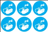 Wash hands symbol  (24 pack) 6 to sheet