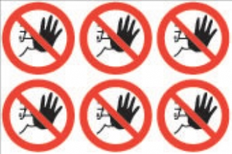 No Admittance symbol  (24 pack) 6 per sheet
