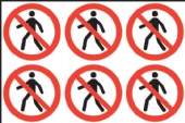 No Pedestrians (24 pack)  diameter