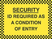 id required as a condition of entry