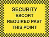 escort required past this point